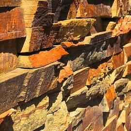 Deb and Ian Pav - Stone Wall of art