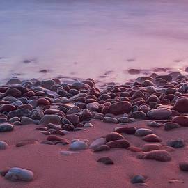 Valdis Veinbergs - Stones on the seashore in evening 1