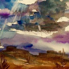 Ellen Levinson - Storm Clouds Over The Desert
