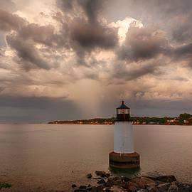 Jeff Folger - Storm over Fort Pickering Lighthouse