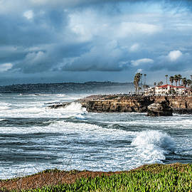 Daniel Hebard - Storm Wave at Sunset Cliffs