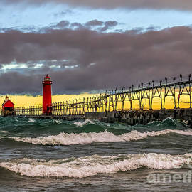 Nick Zelinsky - Stormy Afternoon at Grand Haven