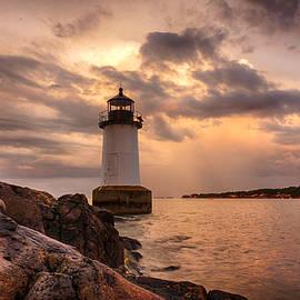 Jeff Folger - Stormy clouds of Salem Lighthouse
