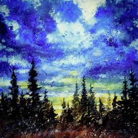 David K Myers - Stormy Pre Dusk, Gouache Painting