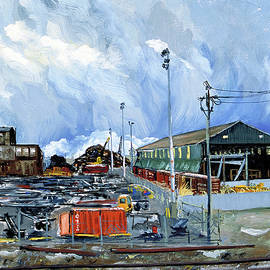 Asha Carolyn Young - Stormy Sky Over Shipyard and Steel Mill