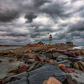 Brian MacLean - Stormy Sunrise over Scituate Lighthouse