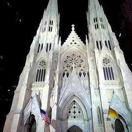 Ed Weidman - St.patricks Cathedral At Night