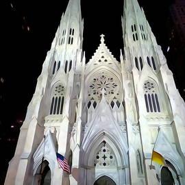 Ed Weidman - St.patricks Cathedral At Night