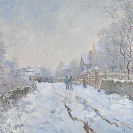 Street under snow, Argenteuil - Claude Monet