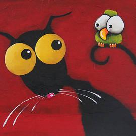 Lucia Stewart - Stressiecat and the bird