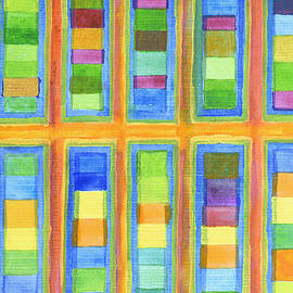 Heidi Capitaine - Striped Color Fields in Orange Grid