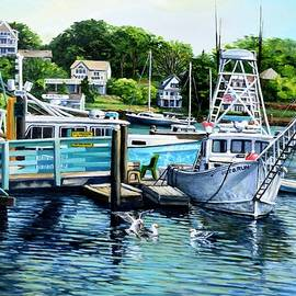 Eileen Patten Oliver - Summer At The Madfish Wharf