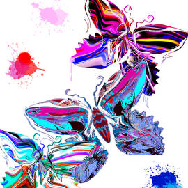 Abstract Angel Artist Stephen K - Summer Butterflies at Play