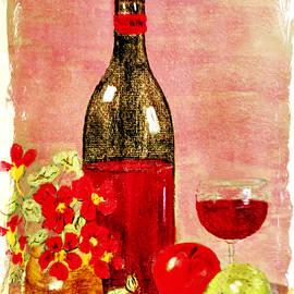 Valerie Anne Kelly - Summer fruits-Still Life Painting By V.kelly