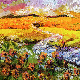 Ginette Callaway - Summer landscape Sunflowers Provence