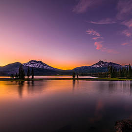 William  Dziuk - Summer Sunset at Sparks Lake