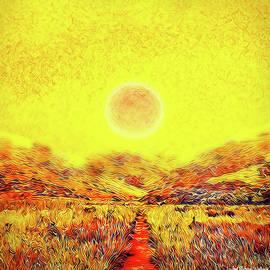 Joel Bruce Wallach - Summer Sunset Field - Trail In Marin California