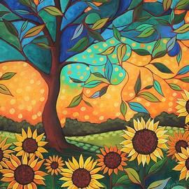 Peggy Davis - Sun Flower Sunset
