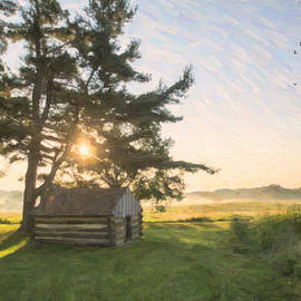 Photos By Jeff - Sun over a Hut