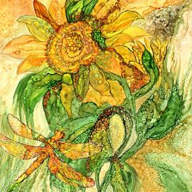 Carol Cavalaris - Sun Spirits - Sunflower And Dragonfly