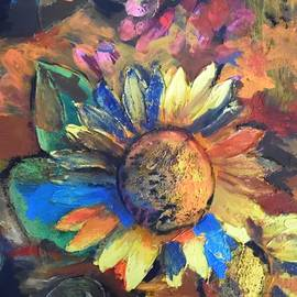 Esther Newman-Cohen - Sunflower in the Moonlight