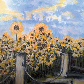 Holly Carmichael - Sunflowers at Rest Stop Near Great Sand Dunes