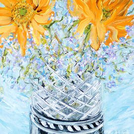 Sunflowers in a Vase. for sale  Acrylic Painting