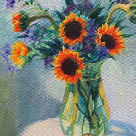 Bonnie Mason - Sunflowers on the Porch