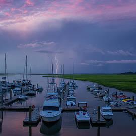 Reid Callaway - Sunrise and Thunderstorm Tybee Island Georgia