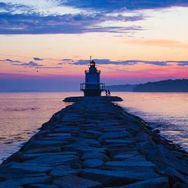 Diane Diederich - Sunrise at Spring Point Light Maine