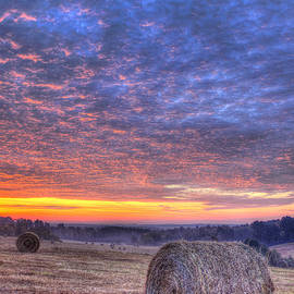 Reid Callaway - Sunrise Hayfield And A View Walker Church Road