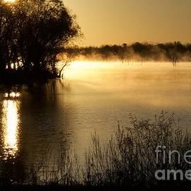 John Franke - Sunrise Fog Over Water 2