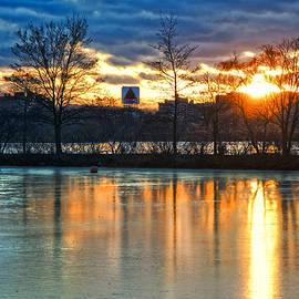 Joann Vitali - Sunrise Over the CITGO Sign and Charles River - Boston