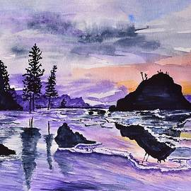 Linda Brody - Sunrise Reflection at Second Beach