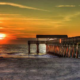 Reid Callaway - Sunrise Reflections Tybee Island Pier Art