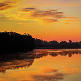 Barry Jones - Sunrise Silhouettes - Lake Landscape