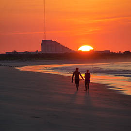 Bill Cannon - Sunrise Walk on the Beach - Cape May New Jersey