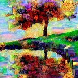 Sam Burns - Sunset a Cherry Lake