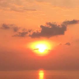 Karen Nicholson - Sunset and Sailboat