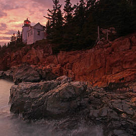Juergen Roth - Sunset at Bass Harbor Head Lighthouse