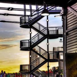 Kaye Menner - Sunset behind the Stairs
