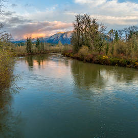 Rob Green - Sunset Glow over the Snoqualmie River