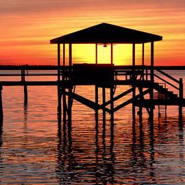 Kathy K McClellan - Sunset Lit Pier