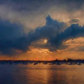 Jeff Folger - Sunset on Beverly harbor