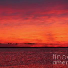 Jeff Breiman - Sunset on Jersey Shore