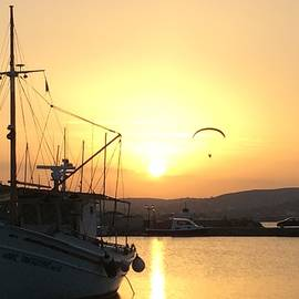 Colette V Hera  Guggenheim  - Sunset on Paros Island Greece