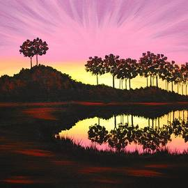 Emily Page - Sunset on Pond