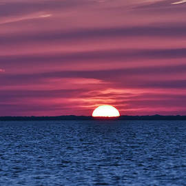 Bill Cannon - Sunset on the Chesapeak Bay - Tilghman Island Maryland
