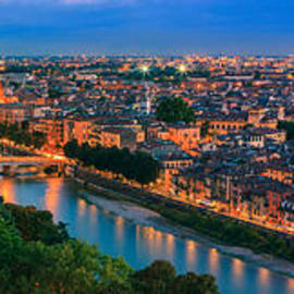 Henk Meijer Photography - Sunset over beautiful Verona.