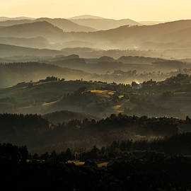 Jaroslaw Blaminsky - Sunset over Beskidy Mountains